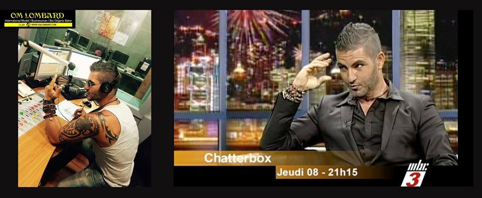 """Om LOMBARD : Tv Show """"Chatterbox by Jerry """" on MBC3 – 03/02/2015 MAURITIUS"""