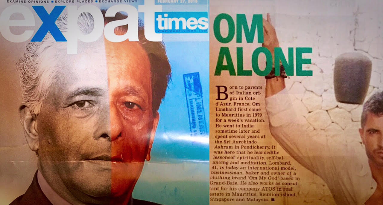 """Om LOMBARD for EXPAT Times : """"Om Alone"""" 01/06/2015 – MAURITIUS"""